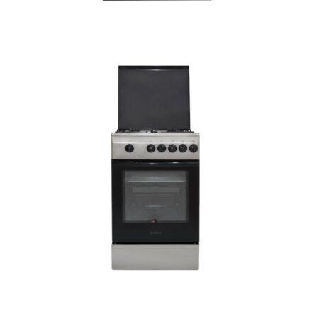 Aragaz Samus SM 550 BSS, 4 arzatoare, Siguranta plita + cuptor, Timer, Inox1