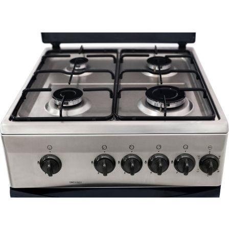 Aragaz Samus SM 550 BSS, 4 arzatoare, Siguranta plita + cuptor, Timer, Inox3