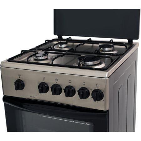 Aragaz Samus SM 550 BSS, 4 arzatoare, Siguranta plita + cuptor, Timer, Inox4